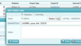 Creating deed link